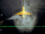 Wake Vortex Flow Visualization Tests of a Boeing 747 Model Photographic Print by Stocktrek Images