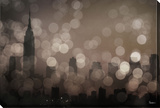 NY Sleeping Stretched Canvas Print by Parvez Taj