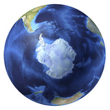 3D Rendering of Planet Earth, Centered On the South Pole Photographic Print by Stocktrek Images