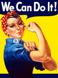 Rosie the Riveter Vintage War Poster from World War Two Photographic Print by Stocktrek Images