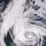 Hurricane Sandy Along the Northeastern Coast of the United States Photographic Print by Stocktrek Images
