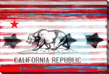 Cal Repub Stretched Canvas Print by Parvez Taj