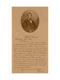 Vintage American History Print of President Abraham Lincoln And His Letter To Mrs. Bixby Photographic Print by Stocktrek Images