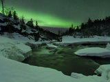 Aurora Borealis Over Tennevik River, Troms, Norway Photographic Print by Stocktrek Images