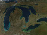 Satellite View of the Great Lakes, USA Photographic Print by Stocktrek Images