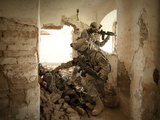 U.S. Army Rangers in Afghanistan Combat Scene Photographic Print by Stocktrek Images
