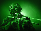 Special Operations Forces Soldier Equipped with Night Vision And An HK416 Assault Rifle Photographic Print by Stocktrek Images