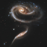 Arp 273 Interacting Galaxies in Andromeda Photographic Print by Stocktrek Images