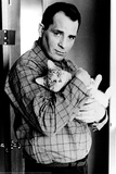 Jack Kerouac with Cat Poster Poster