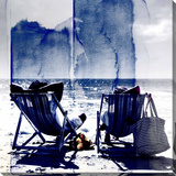 Life's A Beach Stretched Canvas Print by Parvez Taj