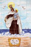 Senora Del Carmen Azulejo Mosaic Panel Photographic Print