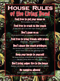 House Rules Of The Living Dead Tin Sign Tin Sign