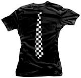 Juniors: Checkered Tie T-Shirts