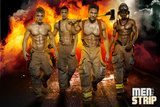 Men of the Strip Fire Pin-up Poster Photo