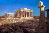 Frederick Edwin Church The Parthenon Poster by Fredrick Edwin Church