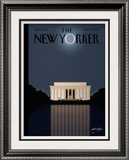 The New Yorker Cover - November 17, 2008 Limited Edition Framed Print by Bob Staake