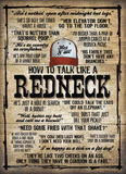 How To Talk Like A Redneck Tin Sign Tin Sign