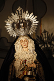 Crowned Virgin Statue in Iglesia of Santiago Photographic Print