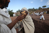 Blessing after Sunday Mass Outside Bieta Ghiorghis Saint George's House Church, Lalibela Photographic Print