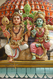Shiva and Parvati Statues in Hindu Temple Photographic Print