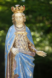 Wood Sculpture Depicting Christ's Mother When She Was Pregnant Photographic Print