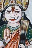 Portrait of Goddess Parvati (Spouse of Shiva) on a Wall in Varanasi Photographic Print