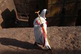 Faithful Walking Outside Bieta Ghiorghis (Saint George's House) Church in Lalibela Photographic Print
