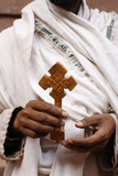 Lalibela Priest Showing a Cross Photographic Print