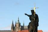 St. John the Baptist Sculpture on Charles Bridge. Photographic Print