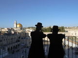 Two Hassidic Jews Looking at the Wailing Wall in Jerusalem Photographic Print