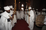 Celebration in Bet Medhane Alem Church in Lalibela Photographic Print