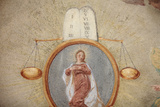 Loreto Church Fresco, Tables of the Law, Scales and Virgin Mary Photographic Print