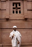 Priest Outside a Lalibela Church Photographic Print