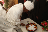 Wedding in Lalibela, a Priest Blesses the Rings Photographic Print