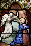 Saint-Corentin Cathedral, Quimper, Stained Glass, the Annunciation Photographic Print
