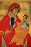 Orthodox Icon, Mary and Jesus Photographic Print