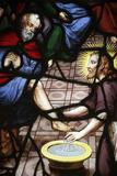 Paris, France Saint-Etienne-Du-Mont Church Stained Glass, Jesus Washing the Apostles' Feet Photographic Print