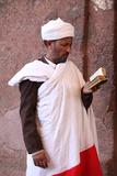 Priest Reading Outside Bieta Maskal Church Photographic Print