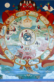 Wheel of Samsara, Temple of the Thousand Buddhas Photographic Print