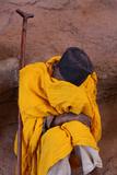 Pilgrim Resting Outside a Lalibela Church Photographic Print