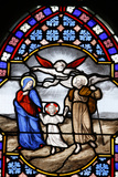 Saint-Corentin Cathedral, Quimper, Stained Glass, the Holy Family Photographic Print