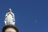 Mary on Top of Ars Basilica Photographic Print