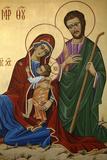 Holy Family Icon Fotografická reprodukce