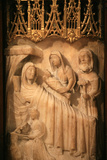 Saint Seurin Basilica, 15th Century Alabaster Retable Depicting the Life of the Virgin Mary Photographic Print