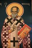 Greek Orthodox Icon Depicting Saint Nicholas Photographic Print