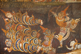 Wat Bo, Siem Reap, Mural Painting of the Ramayana Photographic Print