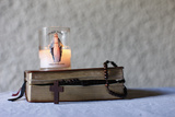 Bible, Candle and Rosary Photographic Print