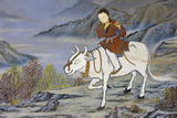 The Ten Ox Herding Pictures of Zen Buddhism Represent the Stages of Enlightement Photographic Print