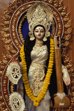 Statue of Goddess Saraswati During Sarasvati Puja in Calcutta Photographic Print