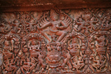 Shiva Lintel in Sikhoraphum Temple Photographic Print